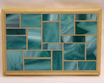 Teal Glass Mosaic Trivet