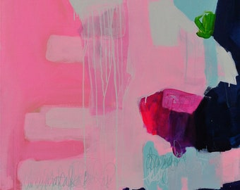 Grapefruit Questions - Large Abstract Original Painting Colorful Contemporary