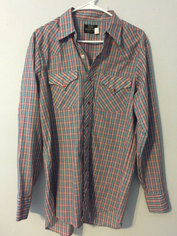 Vintage 1970s Sears Western Wear Western Shirt
