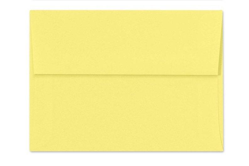 A6 Invitation Envelopes - Pastels Collection 50 Qty. 4 34 x 6 12