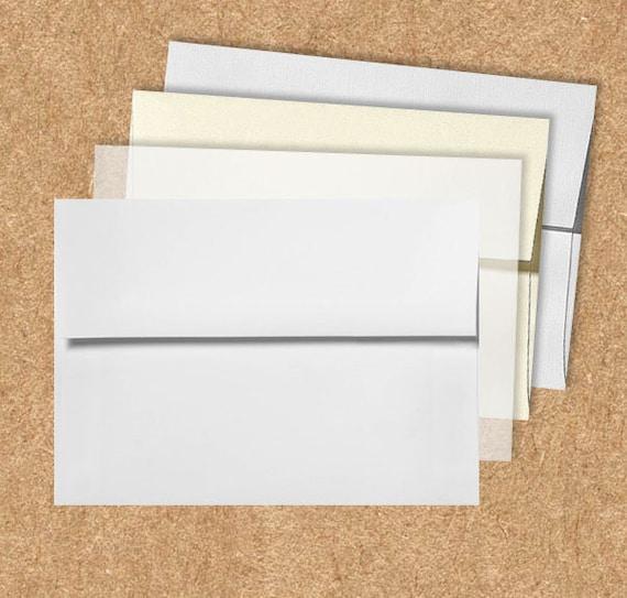 a7 invitation envelopes 5 1 4 x 7 1 4 pick a color 50 etsy