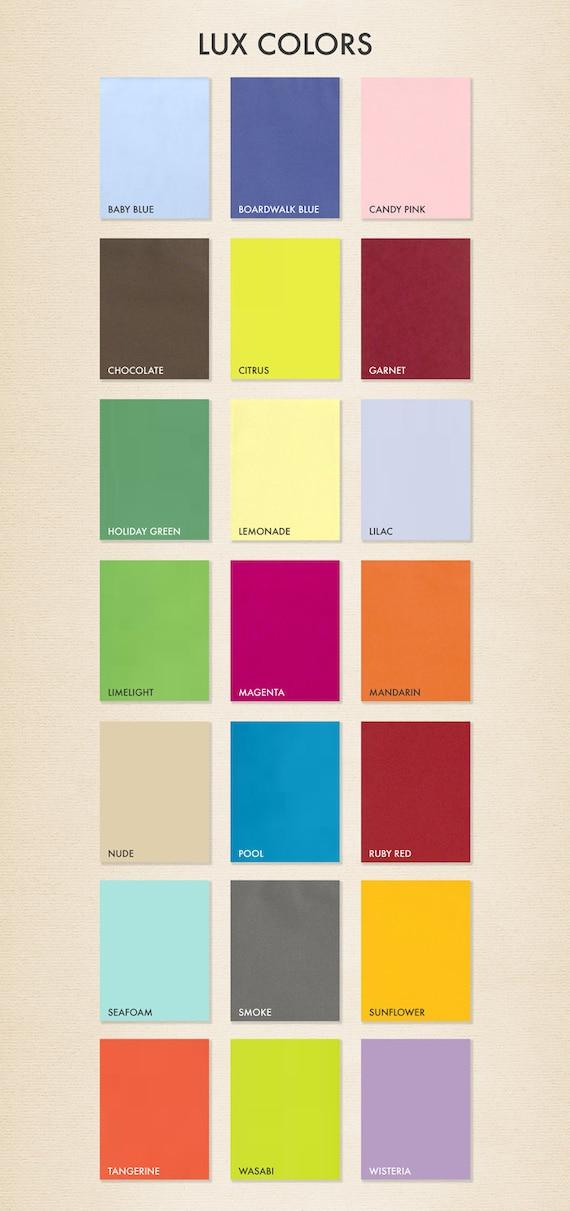 8 12 x 11 Paper Quantity of 50 Pick A Color Fashion