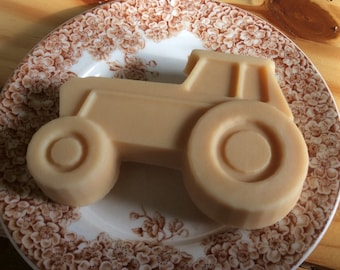 Tractor Handcrafted French Milled Goat Milk Soap Great gift for Grandchild, Young Boy, Father's Day, Boyfriend