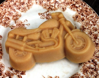 Motorcycle Handcrafted French Milled Goat Milk Gift Soap