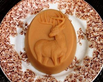 Whitetail Buck Deer French Milled Handcrafted Goat Milk Soap Gift for Deer Hunter, Husband, Boyfriend, or Cabin Decoration