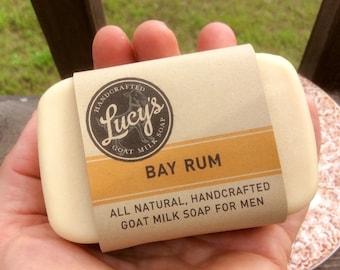 Bay Rum Goat Milk Soap Bath Bar