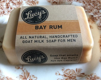 Bay Rum Handcrafted French Milled Goat Milk Soap Hand bar for Men
