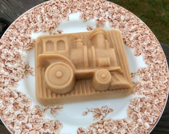 Toy Train Handcrafted French Milled Goat Milk Soap Holiday Gift Made in Wisconsin for Grandchild, Coworked, Boyfriend, Family