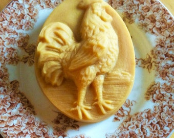 Rooster French Milled Handcrafted Goat Milk Soap Gift for Backyard Chicken Lovers