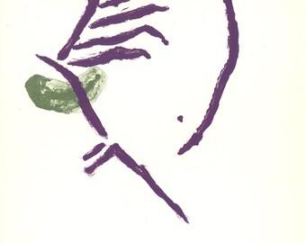 "Purple PIET MONDRIAN Chrysanthemum 27.75/"" x 19.75/"" Poster 1996 Modernism Pastel"
