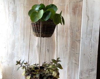 2 Tier plant hanging baskets.