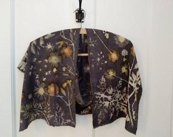 Eco printed bamboo scarf