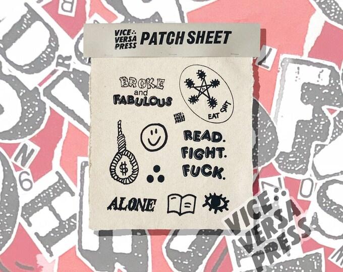 Vice Versa Press Patch Sheet