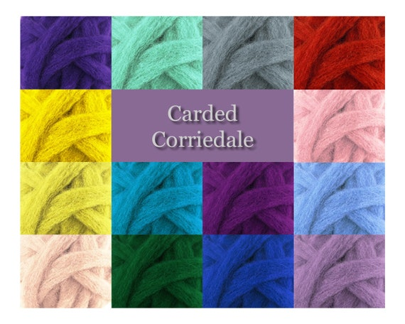 Corriedale Wool Roving One Ounce Assorted Colors for Felting and Spinning NZ Grass