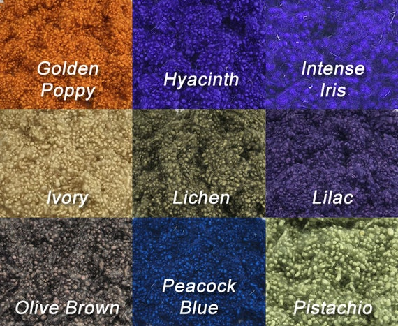 Hand Dyed Wool Nepps Intense Iris