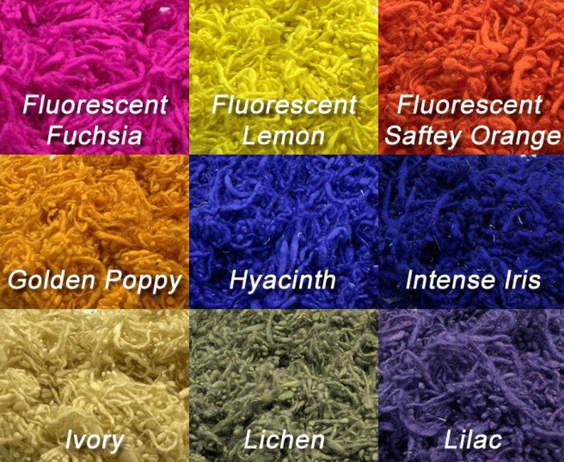 Cabernet Natural Padding Effect Fiber 1 Ounce Wool Slubs Hand Dyed- Art Batt Texture Fiber