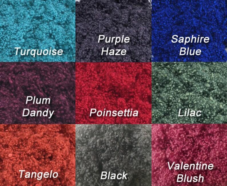Hand Dyed Spinning Fiber Effect Texture Fiber Lichen Nuno Felting Wet Felting 1 ounce Wool Nepps