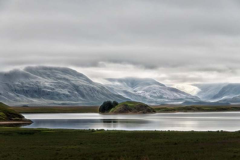 Iceland Landscape  Mountains and Glaciers  Moody Serene image 0