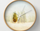 Wall Clock   Dreamy Photography   Lone Tree   Pacific Northwest Landscape   Woodland   Functional Art   Home & Office Decor   Hostess Gift