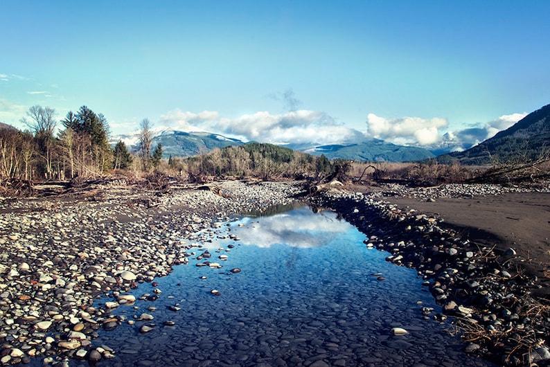 Nooksack River Bellingham  Washington Landscape Photography  16x24 inches