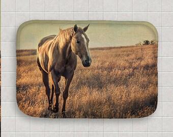 Custom Bath Mat | Horse Decor | Memory Foam Bath Mat | Equine Print Bath Mat | Custom Bath Decor | Equine Art | Functional Art | Horse Photo