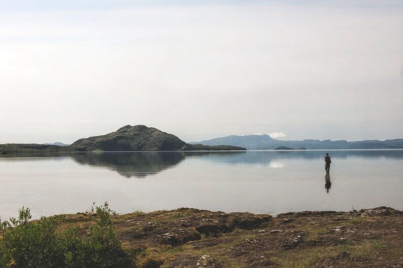 Fly Fishing  Iceland Landscape  Travel Photography  Lake image 0