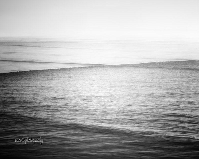 Dreamy Ocean Photography  Monochromatic Minimalist Art Print image 0