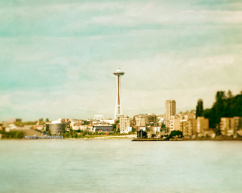 Space Needle Photograph  Pacific Northwest Art  West Seattle image 0