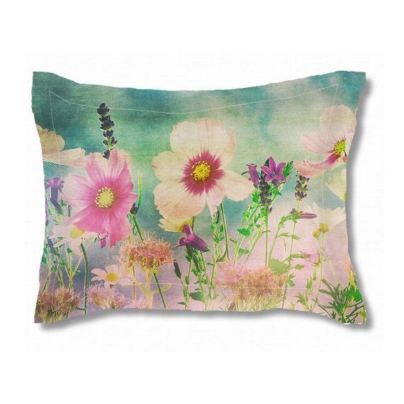 couvre oreiller standard fleurs sauvages brides oreiller etsy. Black Bedroom Furniture Sets. Home Design Ideas