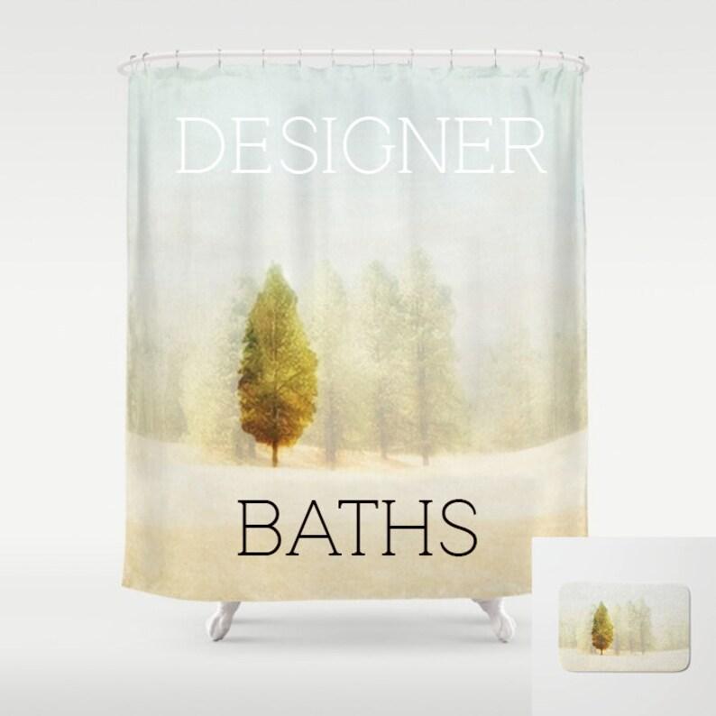 Shower Curtain  Photo Printed Shower Curtain   Aspen Tree image 0