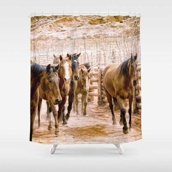Custom Shower Curtain Photo Print Horse