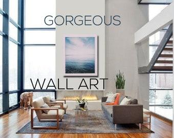 Dreamy Wall Decor | Nature Photography | Ocean Art | Puget Sound | Minimalist Poster | Blue | Pacific Northwest Art | Bainbridge Island