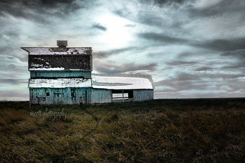Rustic Landscape Photography  Moody Blues Barn Montana image 0