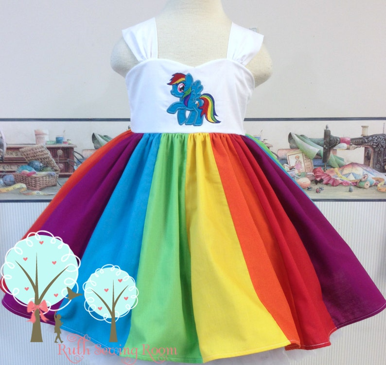 b64488683 Rainbow My Little Pony inspired Twirl Strip Custom Dress | Etsy