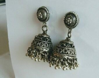 998404cb30b BOHEMIAN  Vintage Silver Banjara Metal Earrings Ethnic Tribal Gypsy Hippie