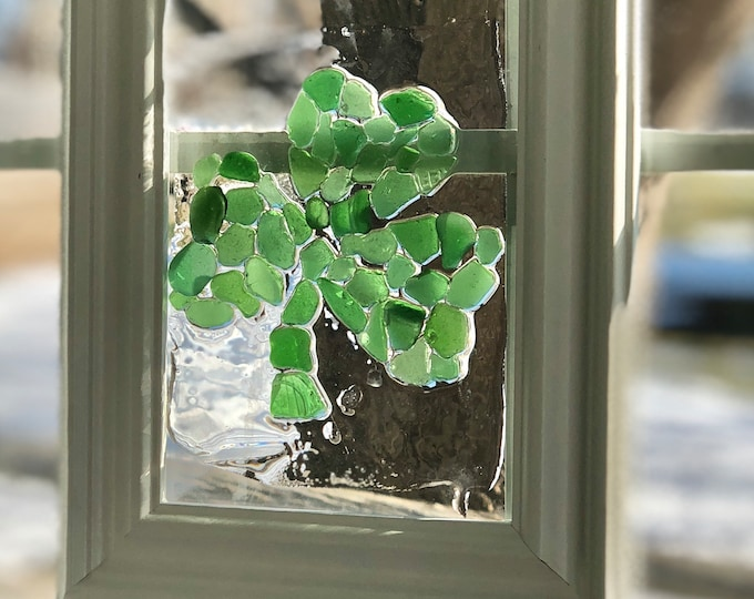 Sea glass Shamrock Wall Hanging