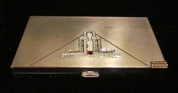 1950s Volupte Compact Purse Powder Compact Mirror