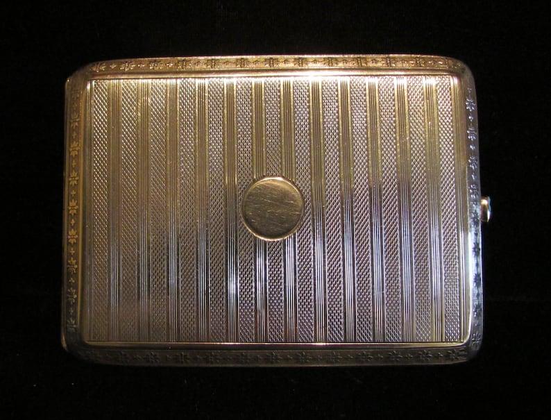 Etui A Cigarettes En Argent Antique Cigarette Boite 900