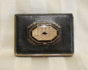 1920s Leather Compact Mondaine Book Compact Powder Compact Rouge Compact Lipstick Compact Mirror Compact Art Deco Very Good Condition