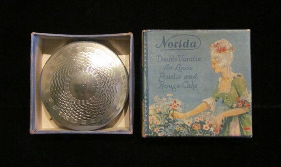 Vintage Norida Compact Powder Compact Rouge Compac