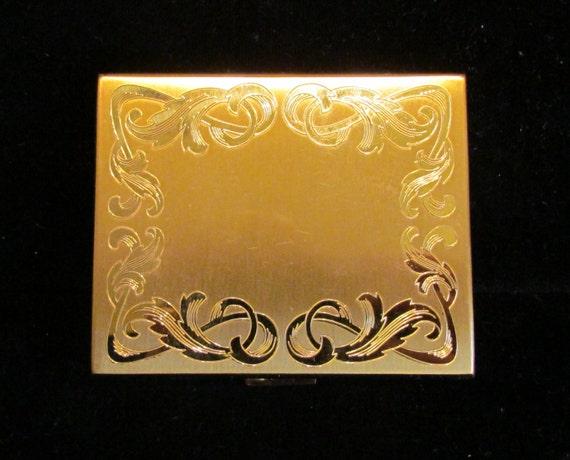 Vintage Compact Powder Compact Mirror Compact Elgi