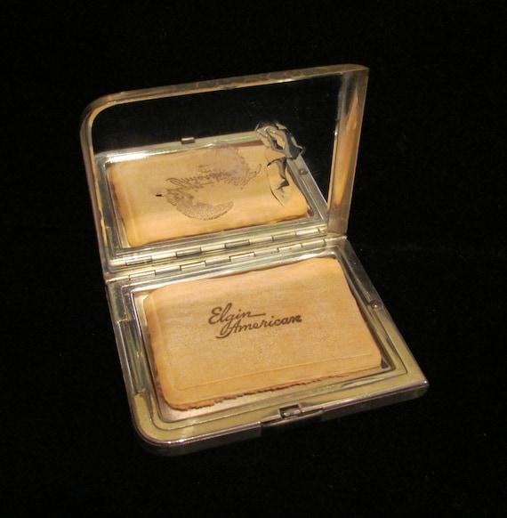 Vintage 1940s Compact Elgin American Compact Powd… - image 4
