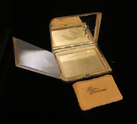 Vintage 1940s Compact Elgin American Compact Powd… - image 5