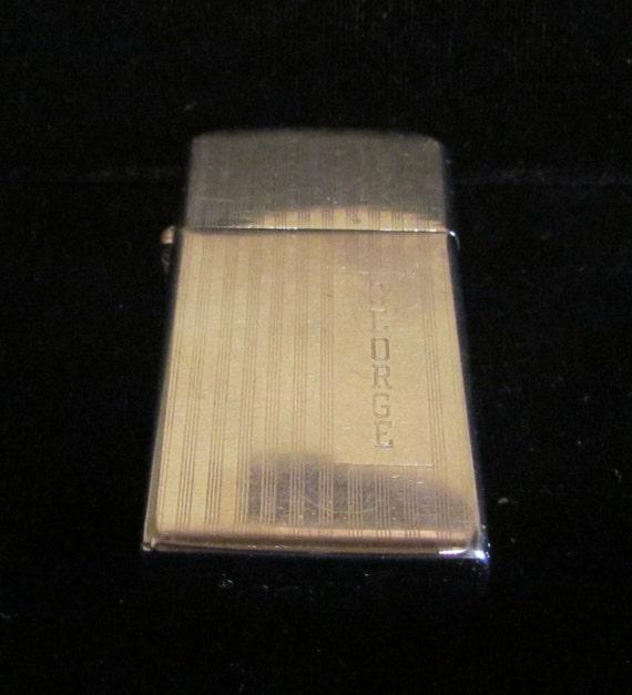 1950s Zippo Slim Lighter Mid Century Pocket Lighter Purse Lighter Cigarette  Lighter Cigar Lighter w/Velvet Pouch Very Good Working Condition