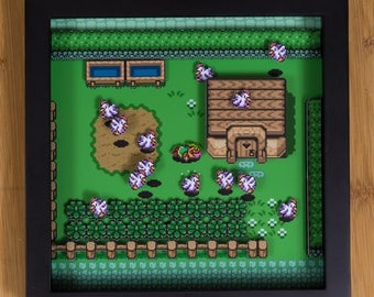 Legend of Zelda - A Link to the Past (SNES) Shadowbox - Death by Cuccos