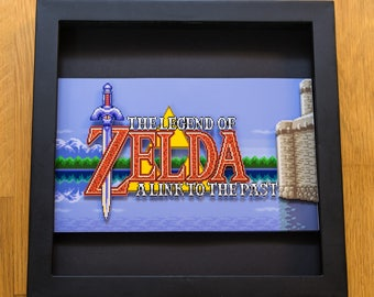 Legend of Zelda - A Link to the Past - SNES Shadowbox