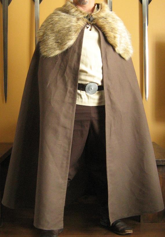 Medieval Celtic Viking Cloak Cape.