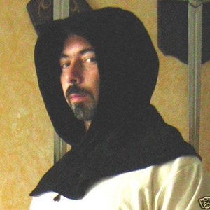 Medieval Celtic Wizard Short Hooded Coat Sleeveless