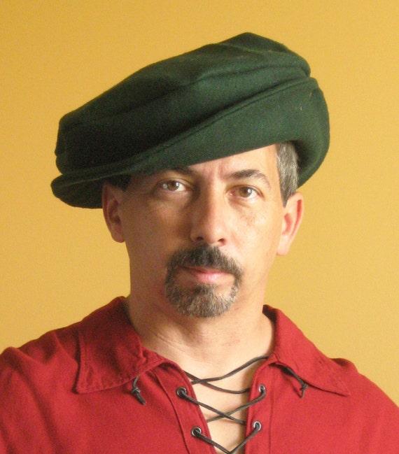 Medieval Celtic Renaissance Tudor Borgias Larp SCA Beret Hat with Brim Jpi6C5OIFk