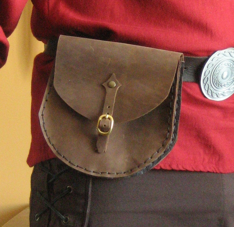 Medieval Viking Celtic Fighter Men-at-Arms Knight Leather Pouch